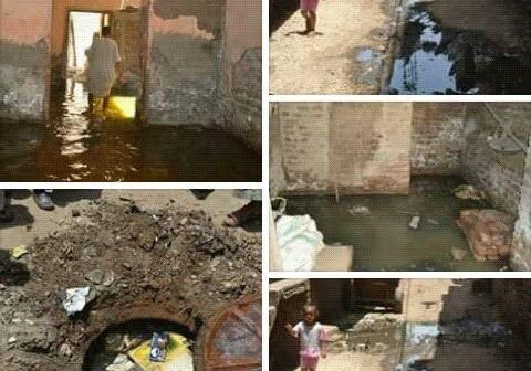 صورة.. غرق منازل بقرية «أصفون» بالأقصر بسبب ارتفاع منسوب المياه الجوفية