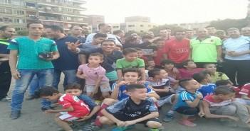 وقفة لشباب شبرا الخيمة لمطالبة بوقف بيع أرض نادي الكابلات
