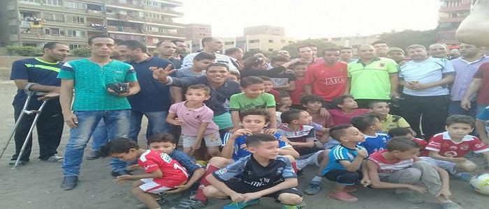 وقفة لشباب شبرا الخيمة لمطالبة بوقف بيع أرض نادي الكابلات (صور)