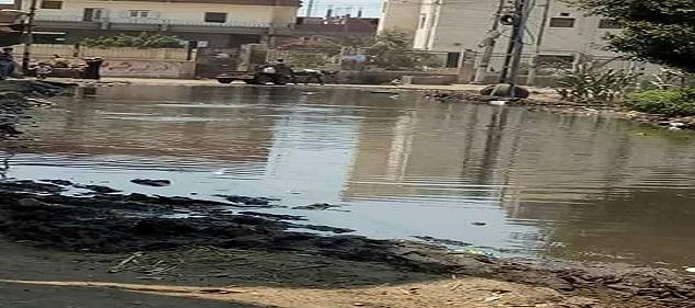 مياه الصرف تغرق شوارع في «الحبش» بالشرقية (صور)
