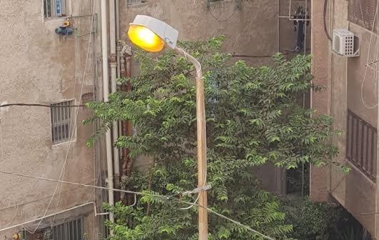 الإسكندرية׀ أعمدة الكهرباء مضاءة في عز النهار ب«الإبراهيمية»..(صورة)