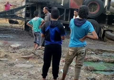 مطالب بإصلاح طريق رمسيس بصان الحجر بعد تكرار الحوادث عليه (صورة)