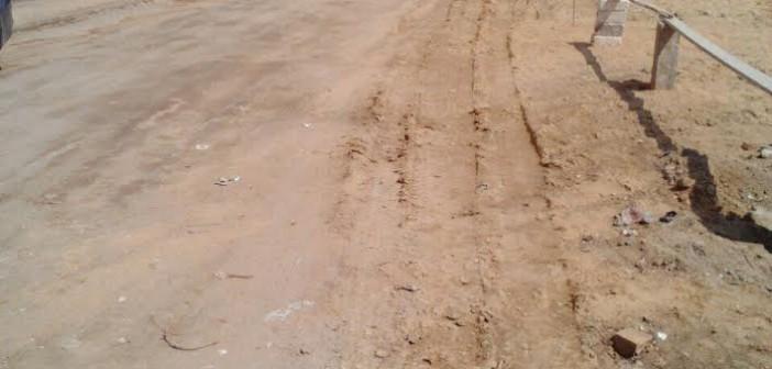 بعد نشر «شارك».. معالجة انهيار أرضي بشارع أبو السعود بحي النزهة (صور)