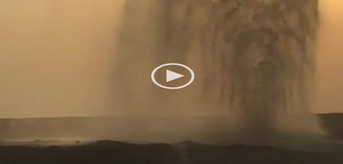 ▶️ بالفيديو.. لحظة انفجار ماسورة مياه عَ الدائري قرب المطار