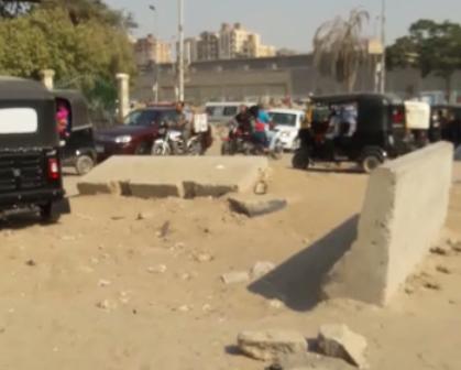 مطالب بتسهيل حركة المرور في مدخل حديقة بدر بجسر السويس (فيديو)
