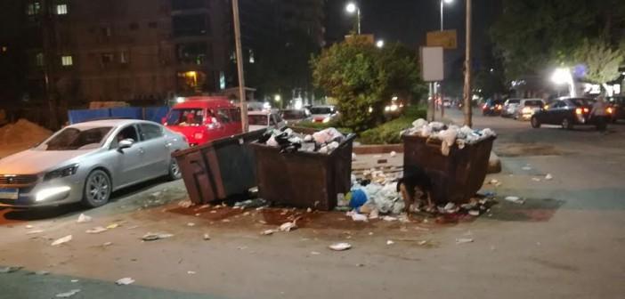 استياء بين سكان ميدان «الجزائر» بالمعادي بسبب انتشار القمامة(صورة)