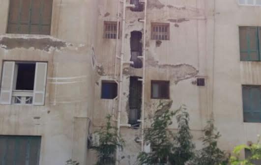 عمارات سكان «المطور» بالتجمع الخامس يشكون سوء تشطيبات الصرف (صور)
