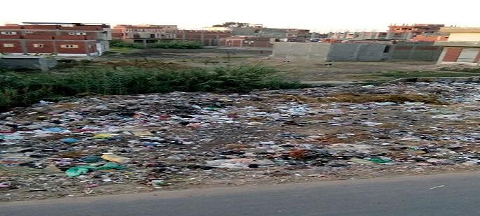 تجمعات للقمامة تثير غضب أهالي «البيضا البلد» بالبحيرة (صور)
