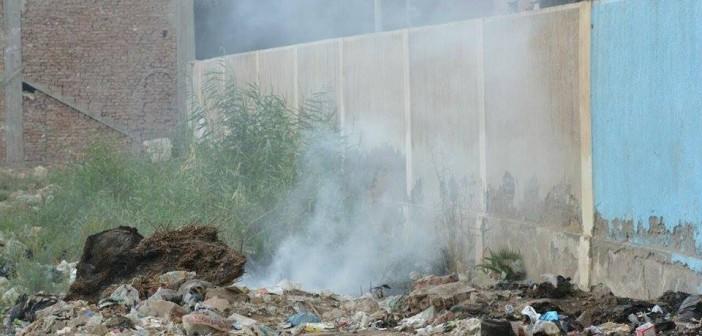 صور..المعهد الدينى بقرية «برية لاصيفر» يتحول إلى مقلب للقمامة..ومطالب بإعادة بناءه