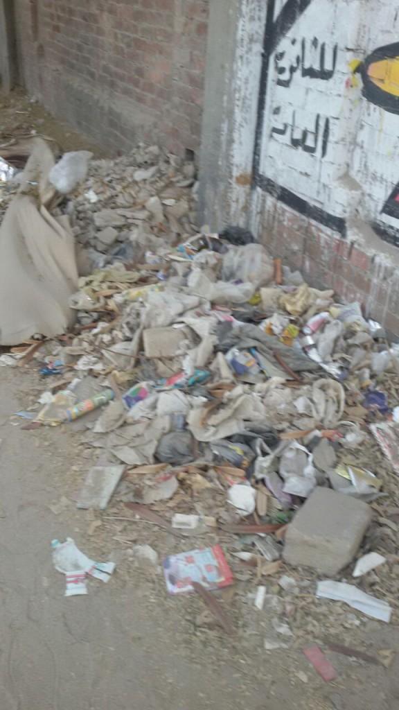 مطالب برفع القمامة وإغلاق بلاعات شارع المحولات بالهرم (صور)