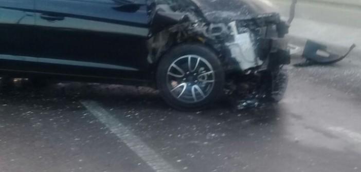 صورة.. حادث تصادم يعطل دائري أكتوبر