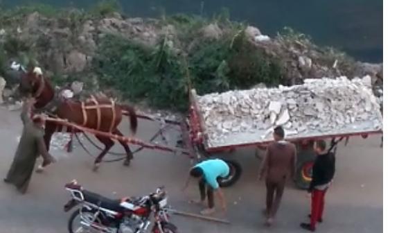 ▶️ إلقاء مخلفات البناء في مياه النيل بالمنصورة (فيديو)