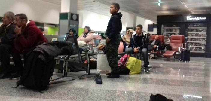 مصريون بإيطاليا يطلبون تعديل رخصة القيادة.. وآخرون يبيتون في مطار بميلانو بعد تعطل طائرتهم (صور)