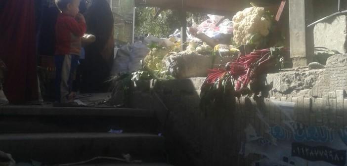 عابرو نفق مشاة السيدة زينب يطالبون بإزالة المخلفات (صور)