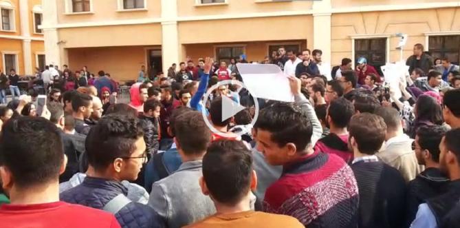 ▶️فيديو.. طلاب «الأهرام الكندية» يتظاهرون ضد نقل السفارة الأمريكية للقدس