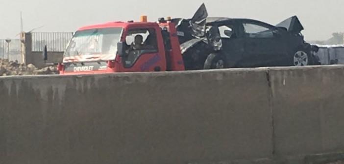 حادث تصادم على طريق القاهرة – الإسكندرية الصحراوي (صور)