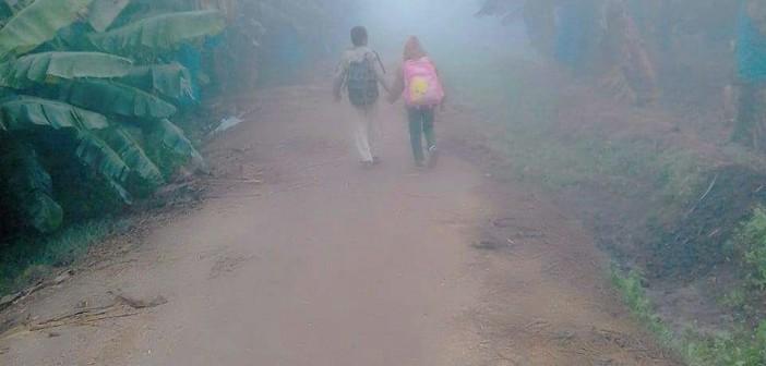 في الشبورة وبين مزارع الموز.. رحلة تلاميذ مدرسة في إحدى قرى كوم حمادة (صور)