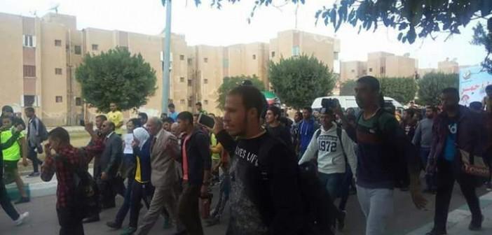 بالصور.. مظاهرة طلابية بجامعة السادات رفضًا لقرارات «ترامب» بشأن القدس
