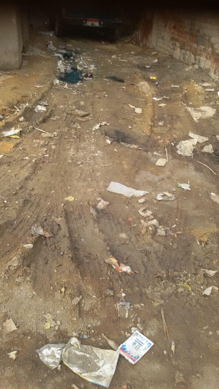 صور | أهالي «طموه» بالجيزة يطالبون بمد خدمات الصرف بدلا من «الترنشات»