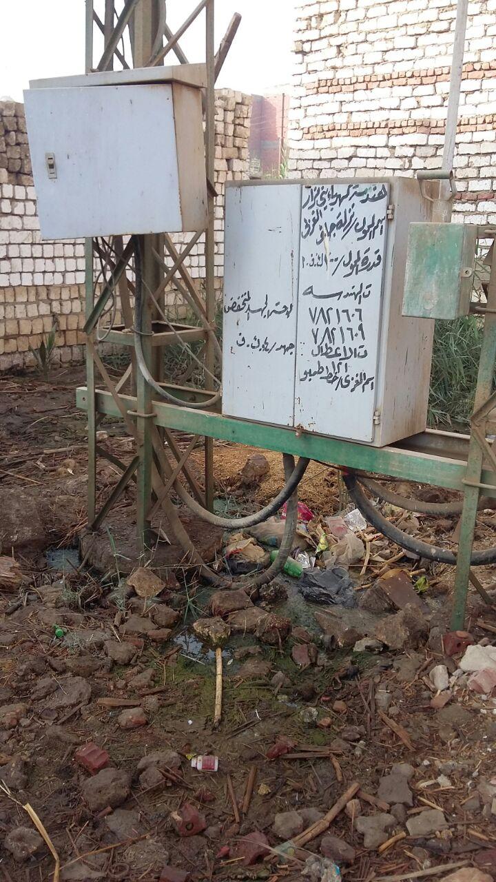 محول كهرباء في «نزلة جلف الغربى» بالمنيا يهدد حياة المواطنين