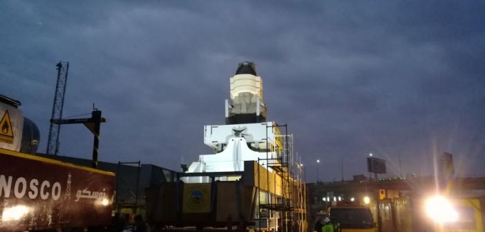 لحظات نقل تمثال رمسيس الثاني من «الرماية» إلى المتحف المصري الكبير (صور)