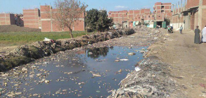 أهالي «شوغي القبلية» بكفر الشيخ يطالبون بإدخال الصرف الصحي للقرية (صورة)