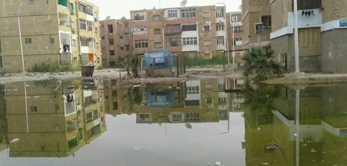 غرق شوارع «فيصل» بالسويس في مياه الصرف الصحي (صور)