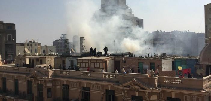 بالصور.. حريق بمطعم أسماك بـ«باب اللوق» القاهرة