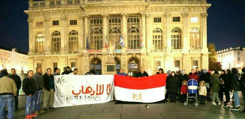 مصريون في إيطاليا ينظمون وقفة لدعم جهود الدولة في مكافحة الإرهاب