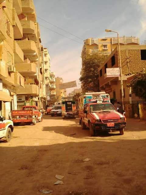 إضراب سائقي أجرة خط «نقادة» في قنا اعتراضًا على تردي شبكة الطرق