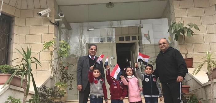 بالصور..مشاركة المصريين بـ«الضفة الغربية» في الانتخابات الرئاسية